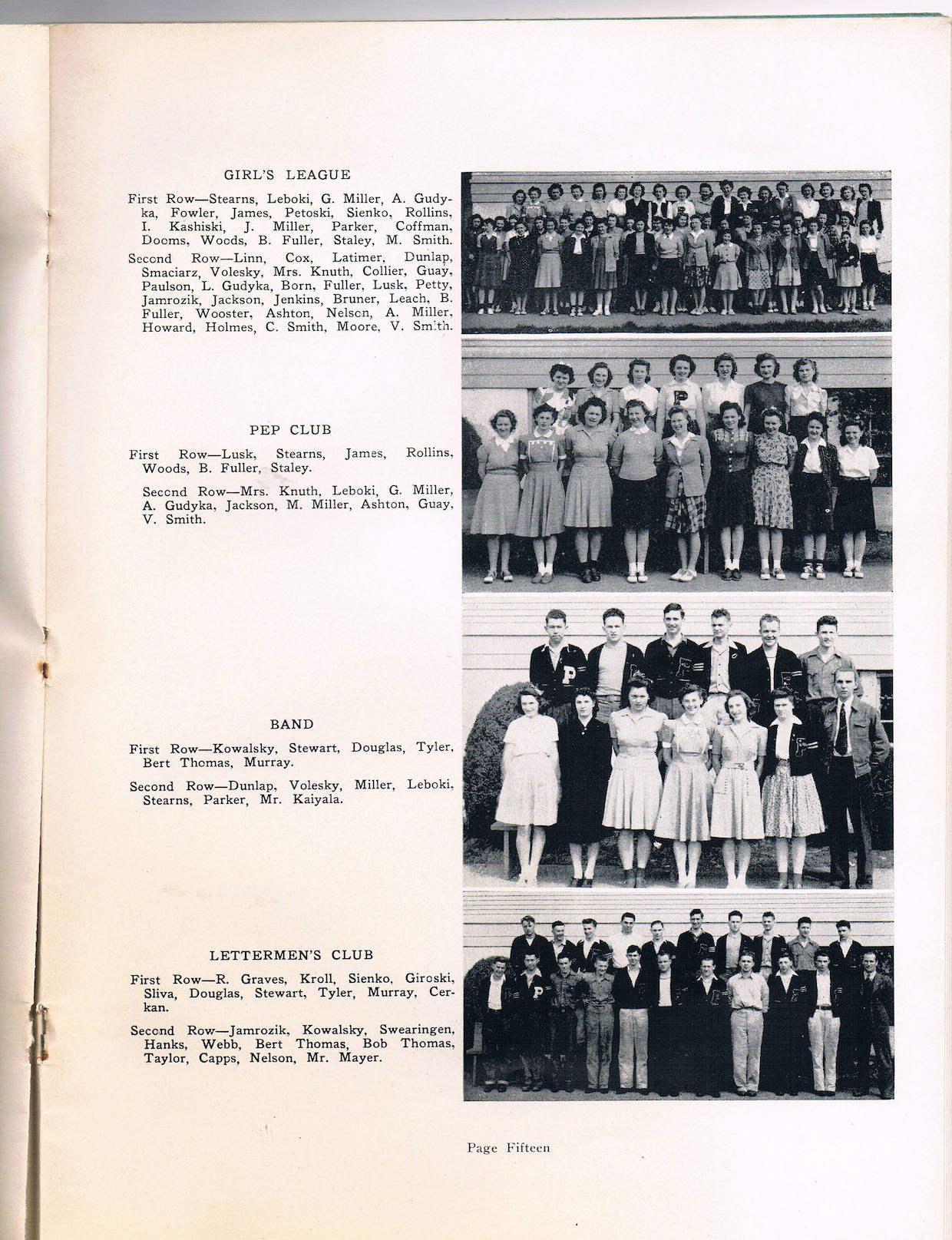Index to the 1942 Pe Ell High School Yearbook