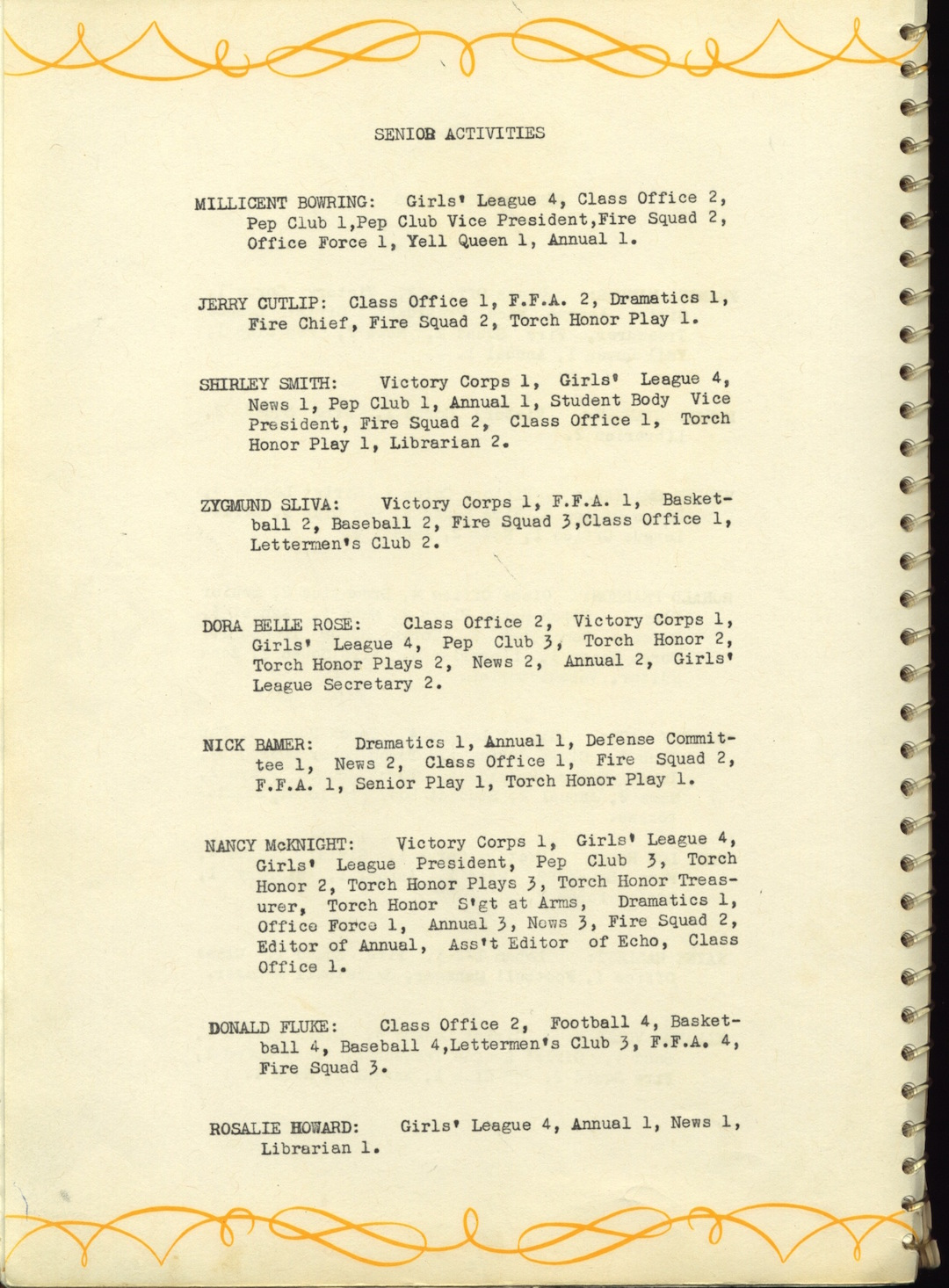 Index to the 1946 Pe Ell High School Yearbook